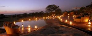 Sayari Camp Rock Pool by night
