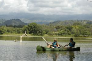 Canoeing in Lake Duluti